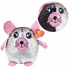 Мышка с пайетками 20 см игрушка мягкая_СИМВОЛ ГОДА 2020! ABtoys