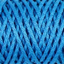 Шнур для вязания без сердечника 100% полиэфир ширина 4мм 100м (св.синий) Sima-Land