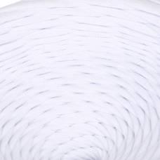 Пряжа трикотажная широкая 100м/350гр, ширина 7-9мм (белый) Елена и Ко
