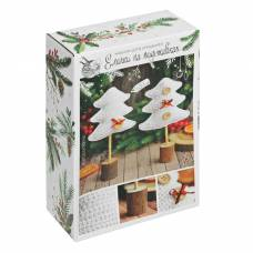 Ёлки на подставке «Морозное утро», набор для вязания, 10,7 × 16,3 × 5 см Арт Узор