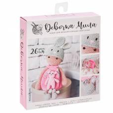 Амигуруми: Мягкая игрушка «Девочка Мила», набор для вязания, 10 × 4 × 14 см Арт Узор