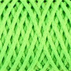 Шнур для вязания без сердечника 100% полиэфир ширина 4мм 100м (салат.люмин.) Sima-Land