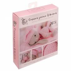 Амигуруми: Мягкая игрушка «Сонная зайка Амелия», набор для вязания, 10 × 4 × 14 см Арт Узор