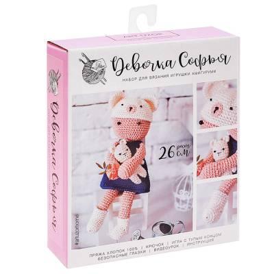 Амигуруми: Мягкая игрушка «Девочка Софья», набор для вязания, 10 × 4 × 14 см Арт Узор