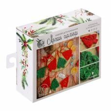 Гирлянда на ёлку «Новогодние ёлочки», набор для вязания, 12 × 10 × 4 см Арт Узор
