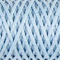 Шнур для вязания без сердечника 100% полиэфир ширина 4мм 100м (светло-голубой) Sima-Land