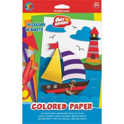 Цветная мелованная бумага ArtBerry, формат В5, 10 листов Erich Krause