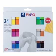 Набор пластики - полимерной глины FIMO soft, 24 цветов по 25 г Staedtler