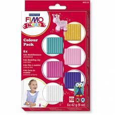 Набор для лепки из глины Fimo Kids - Гирли, 6 цветов Staedtler