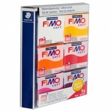 Набор пластики - полимерной глины FIMO soft, 6 цветов по 57 г «Тёплые цвета 2018» Staedtler