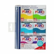 Набор пластики - полимерной глины FIMO soft, 6 цветов по 57 г «Холодные цвета 2018» Staedtler