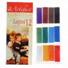 Полимерная глина Lapsi, 12 классических цветов Artifact