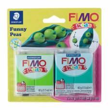 Набор пластики - полимерной глины для детей FIMO kids kit, 2 цвета по 42 г «Весёлый горох» Staedtler