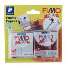 Набор пластики - полимерной глины для детей FIMO kids kit, 2 цвета по 42 г «Весёлая бумажка» Staedtler