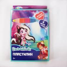 Пластилин Enchantimals со стекой, 6 цветов CENTRUM