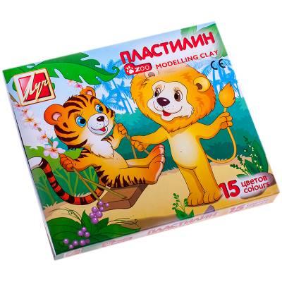 Пластилин Zoo и Mini - Тигр и Лев, 15 цветов  Луч