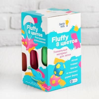 Воздушный пластилин для детской лепки «Fluffy 8 цветов» TA1503 Genio Kids