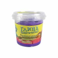Кинетическая глина, фиолетовая, 200 гр. 1TOY