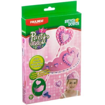 Набор для лепки Party Style с короной, розовый Paulinda