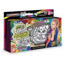 Набор для росписи пенала My Color Clutch - Кошечка и Собачка, с фломастерами Данко Тойс / Danko Toys