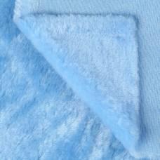 Искусственный мех 100% полиамид, плотность 380г/м2, 50*50 см (св. голубой) Sima-Land