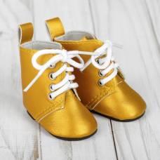 Ботинки для куклы на завязках, длина подошвы 7 см, цвет золото Sima-Land