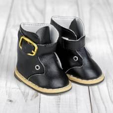Ботинки для куклы на застежке, длина подошвы 7,5 см, цвет черный Sima-Land