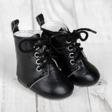 Ботинки для куклы на завязках, длина подошвы 7 см, цвет черный Sima-Land
