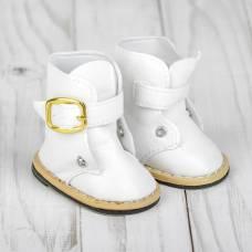 Ботинки для куклы на застежке, длина подошвы 7,5 см, цвет белый Sima-Land