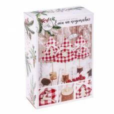Ёлки на подставке «Зимние радости», набор для шитья, 10,5 × 16 × 5 см Арт Узор