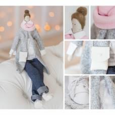 Интерьерная кукла «Бритни», набор для шитья, 18.9 × 22.5 × 2.5 см Арт Узор