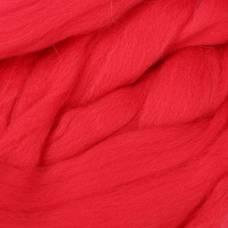 Гребенная лента 100% полутонкая шерсть 100гр (1390, коралл) Троицкая камвольная фабрика