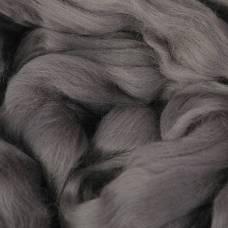 Гребенная лента 100% тонкая мериносовая шерсть 100гр (0214, моренго) Троицкая камвольная фабрика