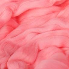 Гребенная лента 100% тонкая мериносовая шерсть 100гр (0160, розовый) Троицкая камвольная фабрика