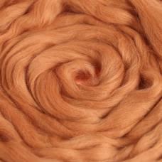 Гребенная лента 100% полутонкая шерсть 100гр (2212 абрикос) Троицкая камвольная фабрика