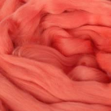 Гребенная лента 100% тонкая мериносовая шерсть 100гр (0131, багряный) Троицкая камвольная фабрика