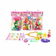 Игровой набор доктора с куклой, 8 предметов Shantou