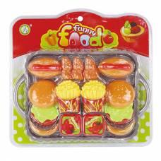 Набор продуктов Funny Food - Фаст-фуд, на подносе Shantou