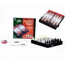 НИ 3в1 Шахматы, шашки, нарды магнитные Tongde