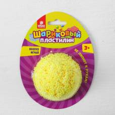 Шариковый пластилин крупнозернистый 5 гр, цвет желтый Sima-Land