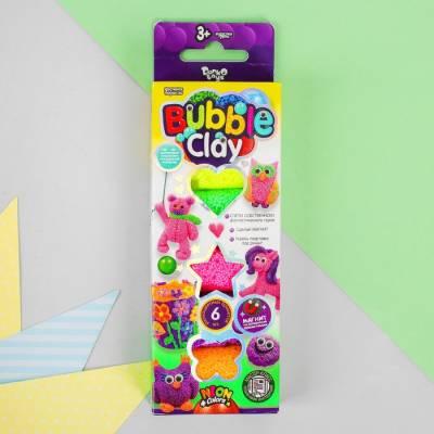 Шариковый пластилин застывающий «BUBBLE CLAY» BBC-01-02 Данко Тойс / Danko Toys
