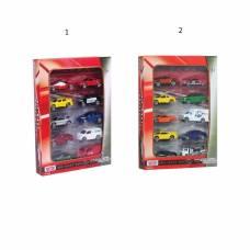 Набор из 10 коллекционных машинок, 1:63 MotorMax