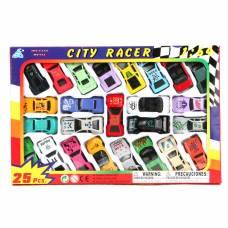Набор из 25 спортивных машин City Racer, 1:64 Global Way Shares Ltd.