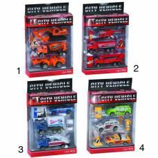 Игровой набор из 3 машинок City Vehicle с аксессуарами, 1:64