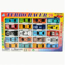 Набор металлических машинок Turbo Racer, 20 шт. Global Way Shares Ltd.