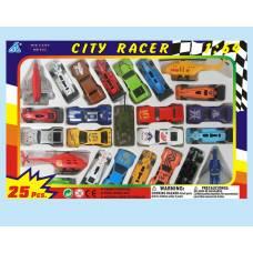 Набор из 25 гоночных машинок City Racer, 1:64 Global Way Shares Ltd.