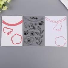 Набор штампов и координирующих ножей Vicki Boutin, «COLOR KALEIDOSCOPE» Sima-Land