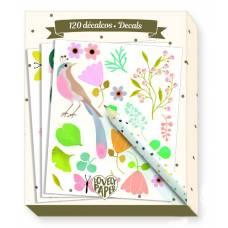 Набор из 120 переводных картинок Lovely Paper - Тину Djeco