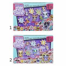 Набор из 12 счастливых петов Littlest Pet Shop Hasbro