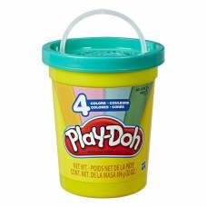 Набор пластилина Play-Doh в большой банке, голубой, 4 цвета Hasbro
